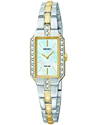 Seiko Womens SUP234 Dress Solar Two-Tone Watch