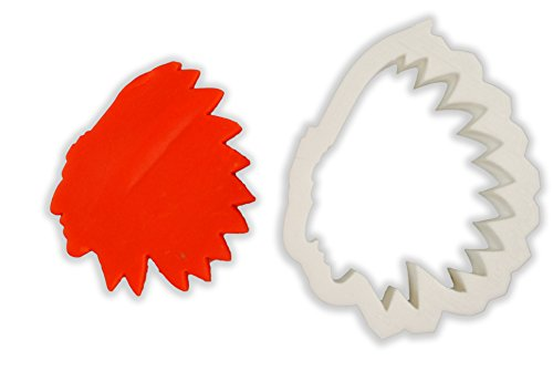 Native American Headdress Cookie Cutter - LARGE - 4 Inches (American Make Native Headdress)