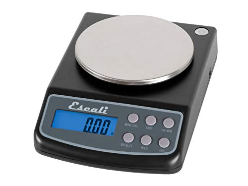 Escali L125 L-Series High Precision Professional Lab Scale, Six Units of Measurements, Capacity 125 gram / Resolution 0.01 gram, Tare Feature, LCD Digital Display,  Black