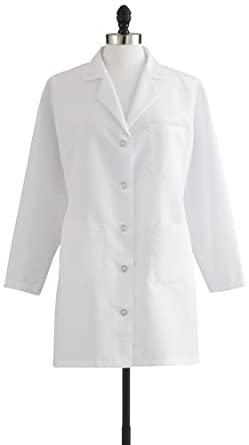 Amazon.com: Medline MDT11WHT2E Women&39s Staff Length Lab Coat Size
