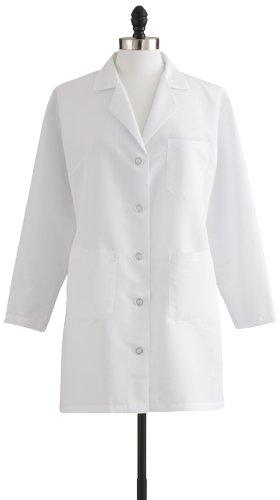 Medline MDT11WHT4E Women's Staff Length Lab Coat, White - Hardhats ...