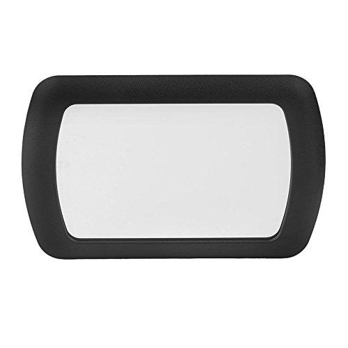 New ABS Auto Specchietto parasole Specchietto prendisole Specchio cosmetico per automobile Make Up Colore eccellente: nero Logicstring