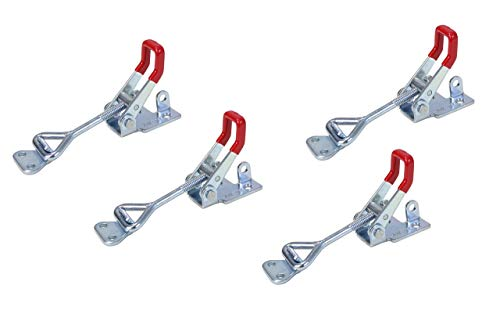 - POWERTEC 20333 Pull-Action Latch Toggle Clamp, 400 lbs Capacity, 4002, 4PK