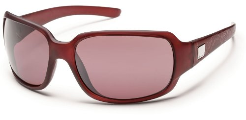 Suncloud Cookie Polarized Sunglasses, Merlot Laser Frame, Rose Polycarbonate - Cookies Sunglasses