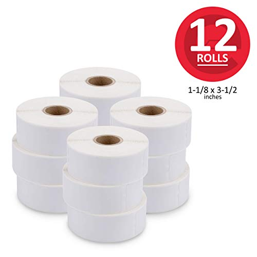 ([12 Rolls, 4200 Labels] Address, Shipping & Barcode Labels 30252 (1-1/8 x 3-1/2