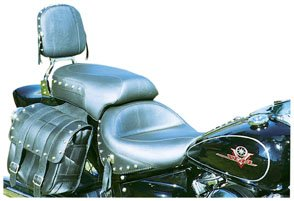 - Mustang Studded Wide Touring Seat - Black