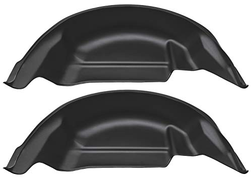 Rear Black Liner - Husky Liners 79121 Black Rear Wheel Well Guards 2015-2019 Ford F-150 (Will not fit Raptor)