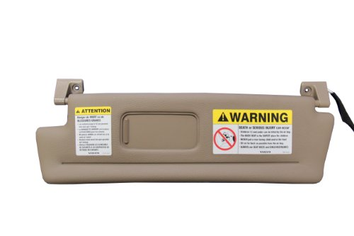 Genuine Volvo C70 Convertible Only 1998-2004 Beige LH Driver Sunvisor NEW - C70 Volvo Convertible