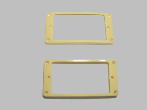 MIJ Pickup Rings for Humbucker Arched-Top Set ivory fa-pur-at2-ivy (Pickup Ring Set)