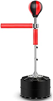 Freestanding Training Boxing Ball with Reflex Bar, Heavy Punching Bag with Stand 360 ° Reflex Bar, Adjustable