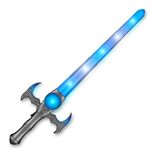 Light Up ICY Medieval Toy Sword with Blue & White LED Lights