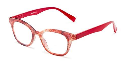 Readers.com | The Etta Bifocal +2.75 Red Cat Eye Stylish Women's Full Frame