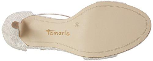 Tamaris28392 - Sandalias de Punta Descubierta Mujer Rosa (Rose Str./copp 586)