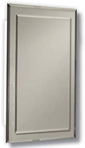 Amazon Com Jensen Mirror On Mirror Frameless Rectangular Recessed Medicine Cabinet 16 W X 5 D X 26 H Kitchen Dining