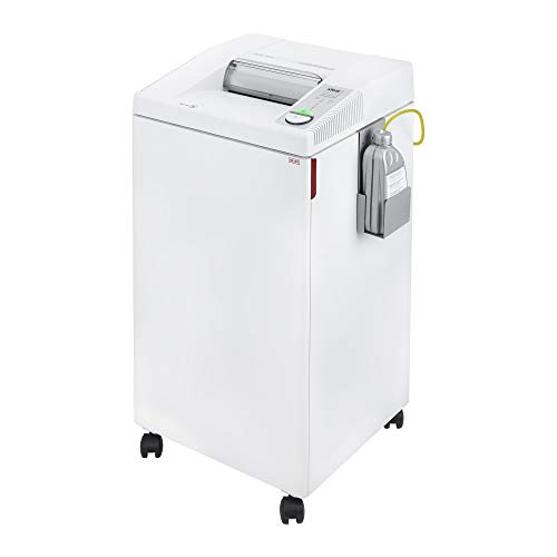ideal. 2604 High Security, Continuous Operation Super Micro-Cut Centralized Office Paper Shredder with Automatic Oiler,  6-8 Sheet Feed Capacity, 26 Gallon Bin, 1 Horsepower Motor, P-7 Security - 7 Feed