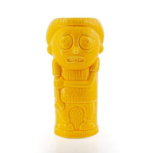 Geeki Tikis Rick & Morty Morty Character Mug | Official Rick & Morty Tiki Style Ceramic Mug | Holds 13 Ounces