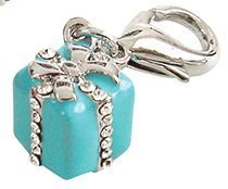 Blue Gift Box Collar Charm for Dogs and Cats