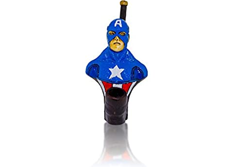 Handmade Tobacco Pipe Superheros (Ledger Captain America) - 2 Oz Pipe Tobacco