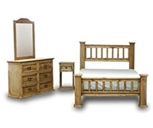 factory furniture express queen rustic mission bedroom set