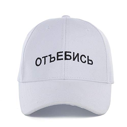 Russian Letter Snapback Cap Baseball Cap for Men Women Hip Hop Dad Hat Snapback ()