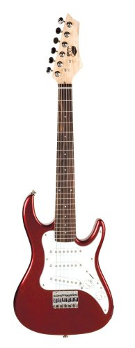 AXL Headliner Series Electric Guitar, 1/2-Sized, Red