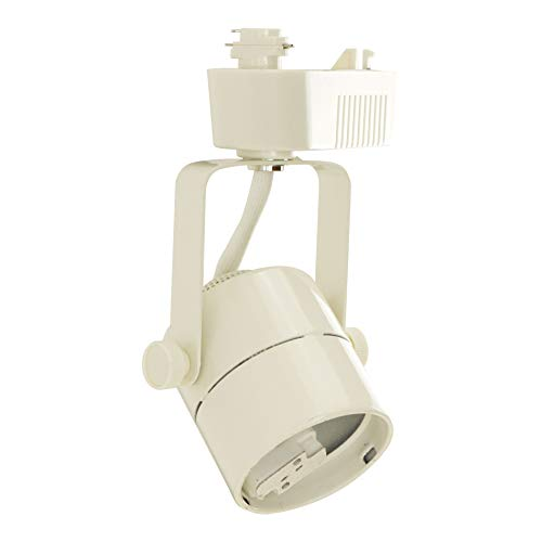 Direct-Lighting 50010 White MR16 Cylinder Low Voltage Track Lighting Head ()