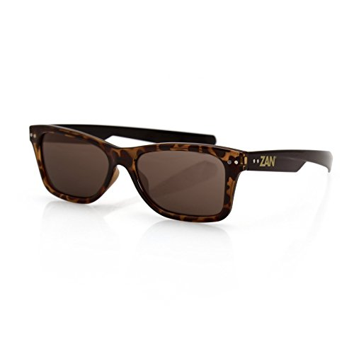 Zan Headgear Trendster Sunglass, Tortoise/Black Frame, Brown - With Small Men Sunglasses For Heads