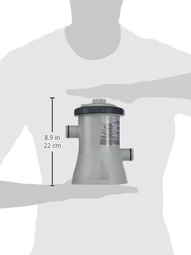 C1,25 Gris//Noir INTEX Filtre EPURATEUR A Cartouche 1,25 M3//H 17,5x14x21 cm