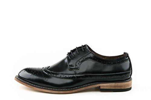 Minitoo ,  Herren T-Spangen Sandalen mit Keilabsatz , Schwarz - Nero (nero) - Größe: 40 EU