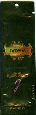Lot of 5 Jwoww Black Bronzer Tanning Lotion Packets