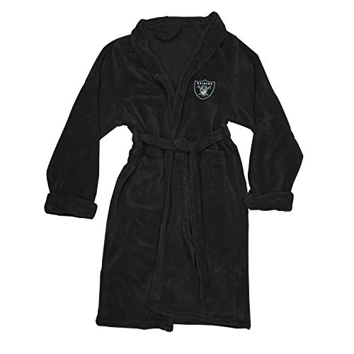 The Northwest Company Officially Licensed NFL Oakland Raiders Men's Silk Touch Lounge Robe, Large/X-Large ()