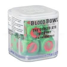 Blood Bowl The Game of Fantasy Football Gouged Eye Dice Set (7 Blood Bowl Dice) by Warhammer