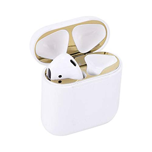 Treatment Protectives Scalp (NXDA Bluetooth Headset 4PCS Metal Dust Cover Protective Sticker Paper for Apple Airpods Headphones (Gold))