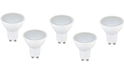 PACK 5 - LAMPARA DICROICA LED GU10 6W 3000K FBRIGHT ECO: Amazon.es: Iluminación