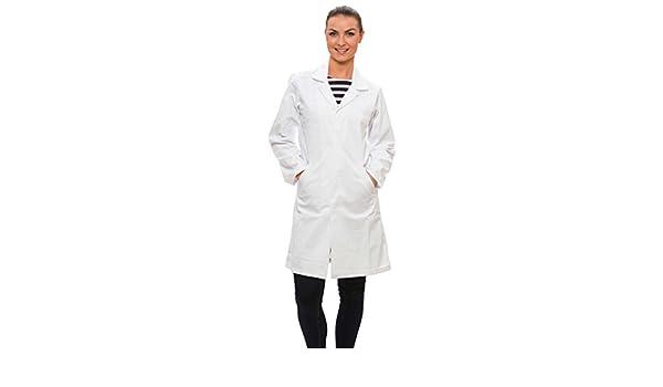 Dr. James Bata de Trabajo Laboratorio Mujer 100% Algodón Talla 40: Amazon.es: Amazon.es