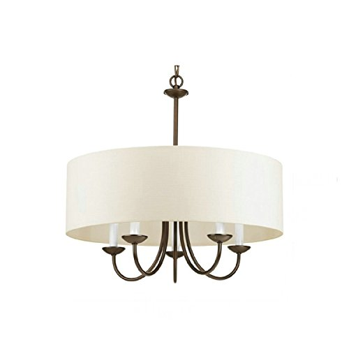 (LightInTheBox 5 Lights Traditional/Classic Country Painting Feature Pendent Light Designers Flush Mount Ceiling Lighting Fixture for Living Room Bedroom Dining Room Study Room/Office)