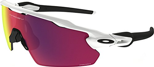 Oakley Men's Radar Ev Pitch Non-Polarized Iridium Rectangular Sunglasses, Polished White, 38 - Polarized Oakley Radar
