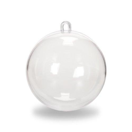 Darice Plastic Ball Ornament Clear