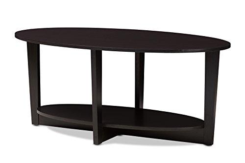 Baxton Studio 146-424-A8275-AMZ Bleckede Coffee Table, Wenge Dark Brown (Wenge Wood Coffee Table)