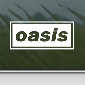 Oasis White Sticker Decal English Rock Band White Car Window Wall Macbook Notebook Laptop Sticker Decal (Rock Oasis White)