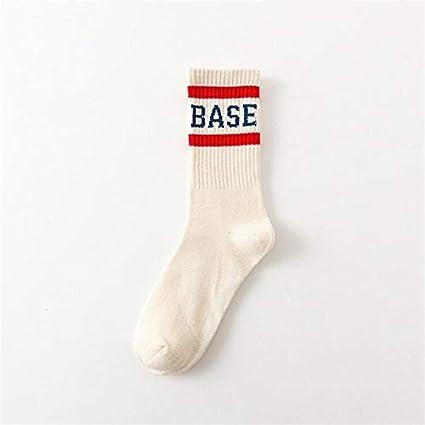 Colore : Bianca, Dimensione : One Size Bianco ZHAODONG Sock Harajuku Hip Hop Via Skateboard Calze Uomo Calze Tubo