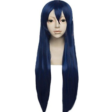 HJLHYL-Angelaicos Womens Long Straight Dark Blue Halloween Costume Cosplay Party Wigs for Lovelive! Sonoda Umi ()
