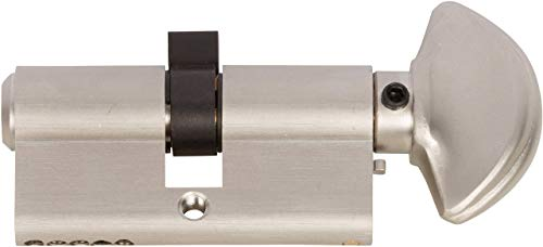Rockwell 90 Degree Solid Brass Euro Profile Cylinder Lock in Brushed Nickel finish Durable - hardware door locks, Door hardware