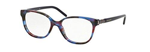 Bvlgari BV4105F Asian Fit 5339 EyeGlasses Blue Red - Eyeglasses Men Bvlgari