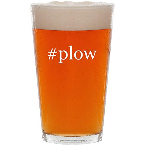 #plow - 16oz Hashtag Pint Beer Glass
