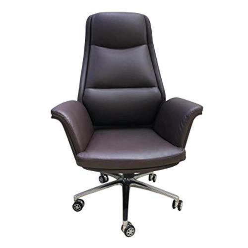 Silla giratoria para computadora de oficina, sillon reclinable para silla giratoria, cuero,Silla de jefe moderna simple, silla de computadora, silla de oficina, silla de escritorio de estudio en el h