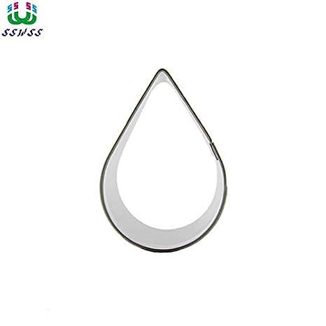Amazon.com: 1 pieza pequeña forma de gota de agua Fondant ...
