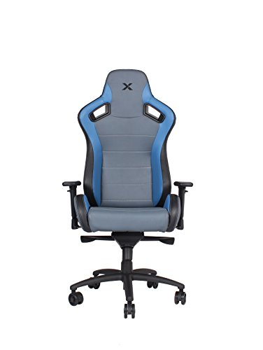 31Kyij2bIhL - Carbon Line Blue on Grey Sleek Design Gaming & Lifestyle Chair for Big and Tall by RapidX