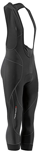 Louis Garneau Men's Enduro 3 Thermal, Padded, Compression Cycling Bib Knickers, Black, Medium