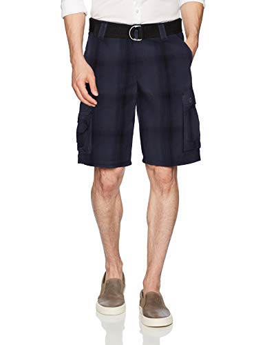 LEE Men's Dungarees New Belted Wyoming Cargo Short, Navy Ombre, 40 ()